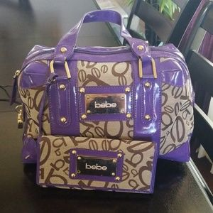 Bebe Handbag and wallet
